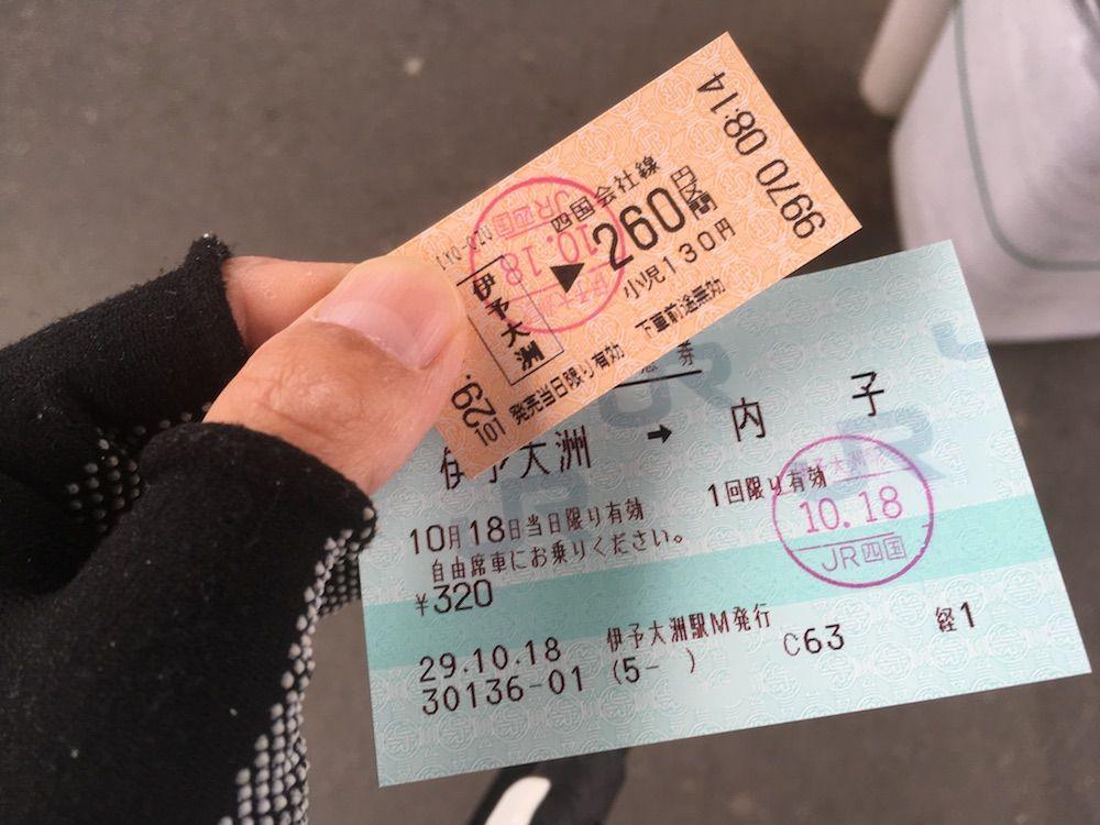 切符と特急券