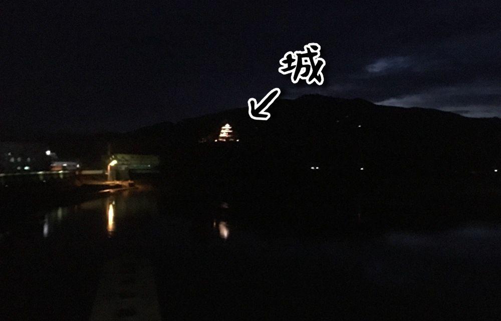夜の大洲城