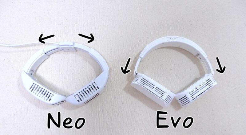 ネッククーラーEvoの伸縮部