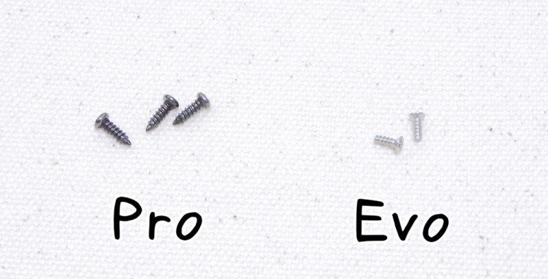 ネッククーラーProとEvoのネジ